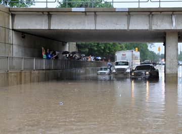 Cawthra Road flooding. Photo Taken and featured by The Mississauga News July 8, 2013.