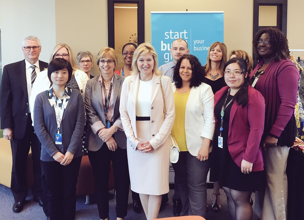 With Susan Amring, Director of Economic Development, and the team of professionals from the City of Mississauga's Economic Development Office.