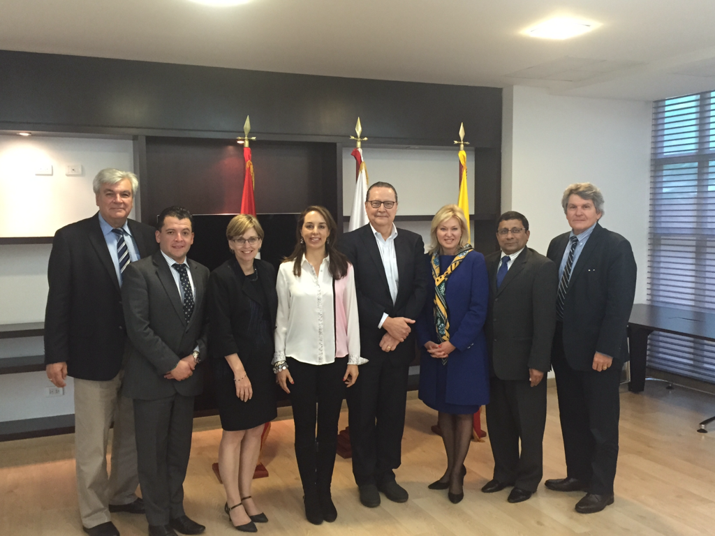 With the leaders of the Canadian-Colombia Chamber of Commerce.