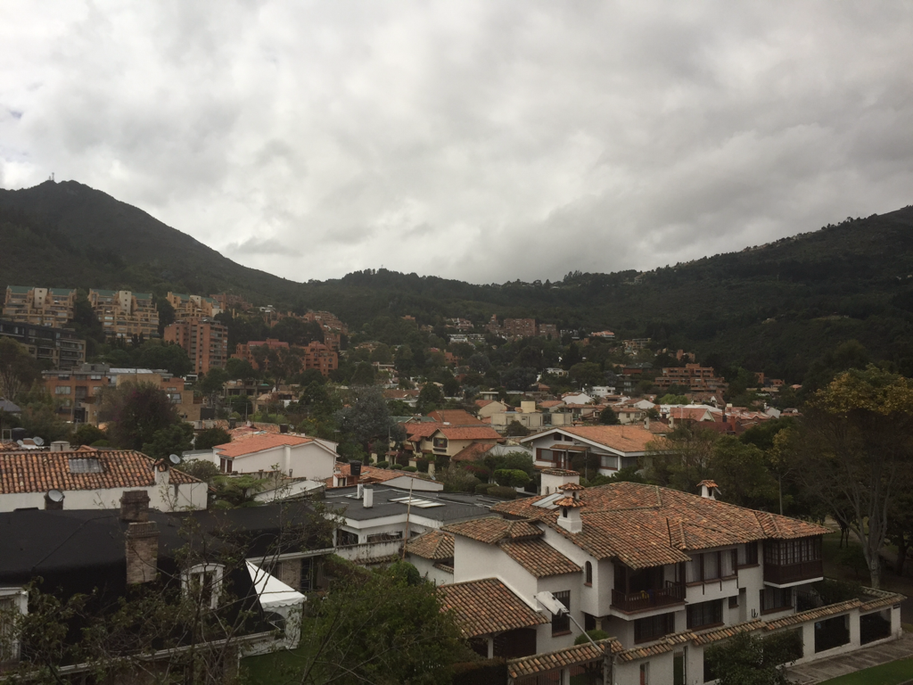 We will miss Bogota, Colombia.