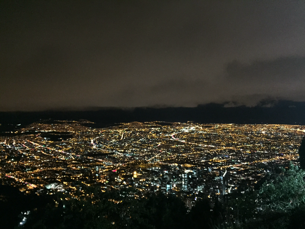 The City of Bogota at night. Spectacular!