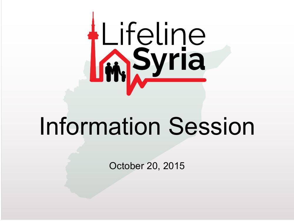 Lifeline Syria Sponsor Info Presentation