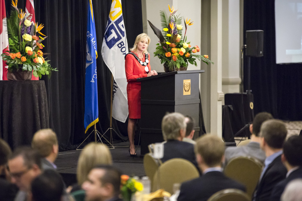The Mississauga Board of Trade hosted Mayor Crombie's inaugural State of the City Address in September 2015.