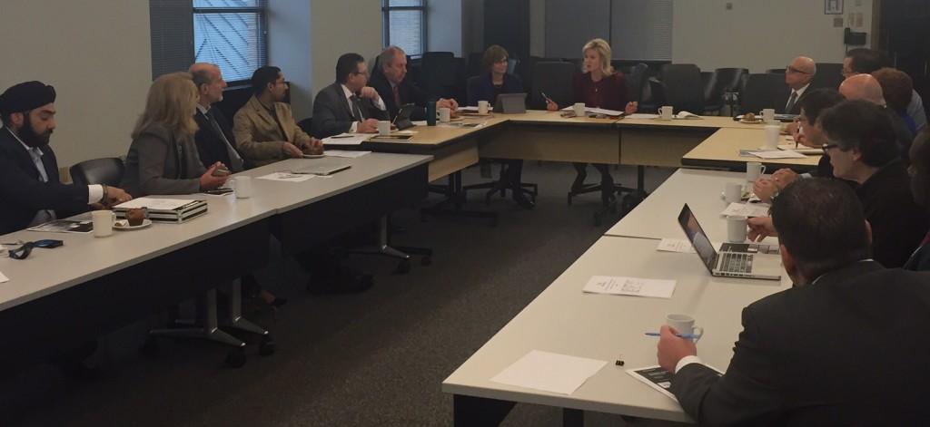 Mayor Bonnie Crombie chairs inaugural Innovation and Entrepreneurship Taskforce meeting.