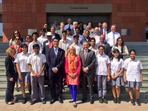 Visiting with students, teachers & the leadership team at the Aga Khan Academy with Western University President Amit Chakma