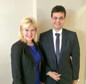 Discussing ways to support Mississauga's ICT sector with Ameet Nivsarkar of TCS
