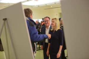 Mayor Crombie and Councillor Iannicca attending the Ward 7 Hurontario LRT Open House.